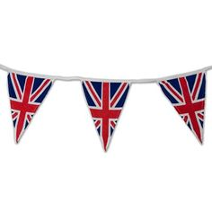 Cotton Union Jack Bunting 5M and will last as long as London