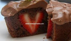 حلويات مليكة لعشاق الحلويات: كاب كيك بالشوكولاتة محشو بالفراولة رووعة