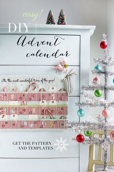 Gorgeous advent calendar - free pattern and tutorial @ ehow by Amy of nanaCompany