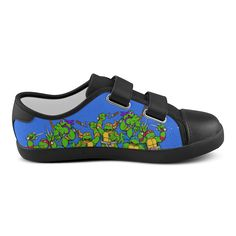 turtles mutant Velcro Canvas Kid's Shoes (Model 008)