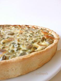 Torta rustica, ricetta della tradizione romana riadattata a quiche, con brisè all'olio e.v.o.