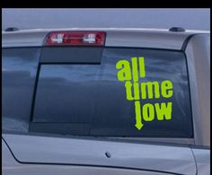 All time low Band Decal - Music Band Stickers - Rock Band Vinyl decals