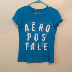 Aeropostale T-shirt Blue t-shirt, tight fit, size medium, 100% cotton Aeropostale Tops Tees - Short Sleeve