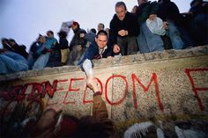 The fall of the Berlin Wall, 1989. The first major historical event I remember, and the most magical