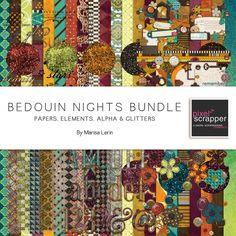 Wishlist!  Bedouin Nights kit bundle by Marisa Lerin | Pixel Scrapper digital scrapbooking