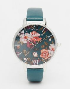 Image 1 of Olivia Burton Enchanted Garden Teal Big Dial Watch
