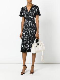 Dolce & Gabbana robe à pois à bords en dentelle