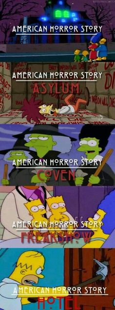 American Horror Story ~ Simpsons style