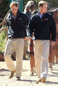 Prince Harry - Prince William And Harry Visit Botswana - Day 2
