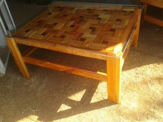 Made this table from old pallets