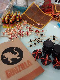 Lembrancinhas e guloseimas - Festa Godzilla