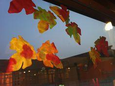 Koffiefilters en ecoline, geeft prachtige herfstblaadjes!