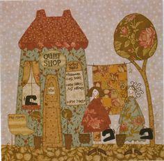 This is amazingly beautiful. Anni Downs applique quilt shop love