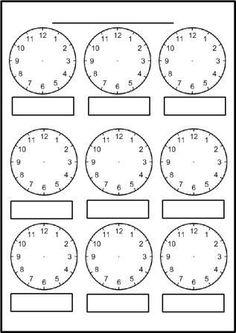 Digital Clock Worksheets Along with Free Printable Blank Clock Faces Worksheets Clock Worksheets, Free Kindergarten Worksheets, Worksheets For Kids, Math Resources, 1st Grade Worksheets, Printable Maths Worksheets, Abc Kindergarten, Kindergarten Addition, Addition Worksheets