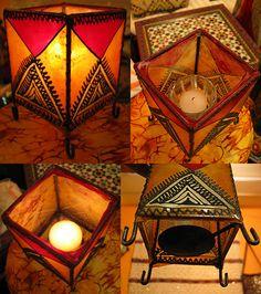 Moroccan Orange Henna candleholder