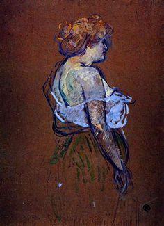 Lucie Bellanger, by Henri de Toulouse-Lautrec.