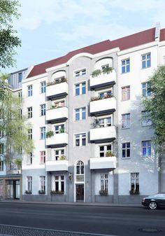 Beide Häuser haben ihren ganz eigenen Charakter. Was Sie verbindet, ist ein grüner Innenhof, in dem sich die Bewohner begegnen.