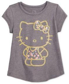 Hello Kitty Glitter Graphic-Print T-Shirt, Little Girls (2-6X)