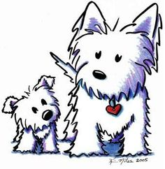 Westie Drawing Original westie dogs drawing