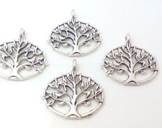 15 pcs Double Sided  Tree of Life Charms   ,Tree of life Pendants    ,Wish Tree    Charms