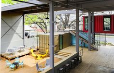 Texas bar built from seven colourful shipping containers | Architecture And Design