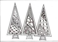 Christmas tree zentangles - Google Search