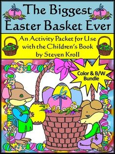 Easter Reading Activities: The Biggest Easter Basket Ever Reading & Language Arts Activity Packet Bundle:This Easter language arts and reading activity packet complements the children's book, The Biggest Easter Basket Ever, by Steven Kroll. Contents include a multiple choice reading comprehension quiz over the Easter story, a sequencing worksheet over events from the Easter book, a biggest/smallest comparisons worksheet, a superlative worksheet, a quotations worksheet, a writing activity,...