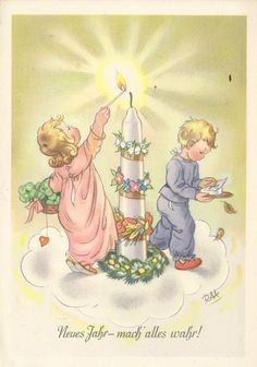 Vintage Book Art, Vintage Cards, Vintage Postcards, Vintage Images, Old Christmas, Christmas Candles, All Things Christmas, Hallmark Ornaments, Illustrations And Posters