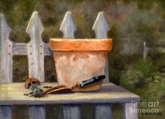 The Potting Bench Painting  - The Potting Bench Fine Art Print