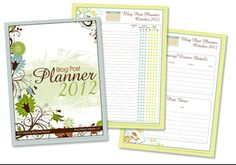 Free printable blog post planner _ PDF file for 2012