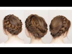 3 ways to do a Crown Braid - YouTube