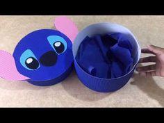 CAJA STITCH CIRCULAR - YouTube Picnic Birthday, Cute Birthday Gift, Diy Birthday, Valentine Day Boxes, Valentines, Lilo And Stich, Stitch Box, Diy And Crafts, Crafts For Kids