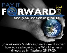 Pay It Forward and let others know about the love of Jesus!