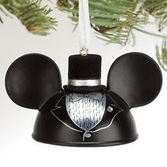 Disney WDW DL Mickey Mouse Groom Ear Hat Ornament New. Disney Ears Hat, Mickey Mouse Ears Hat, Mickey Mouse And Friends, Disney Mickey Mouse, Disney Christmas Ornaments, Christmas Decorations, Halloween Ornaments, Holiday Tree, Christmas Tree