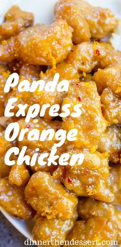Panda Express Orange Chicken with tender chicken thighs fried crisp and tossed in a magical perfect-copycat sauce!:
