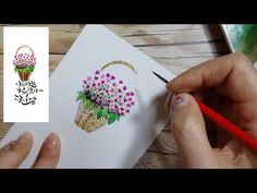 YouTube Watercolor Tips, Flower Basket, Drawings, Floral, Painting, Youtube, Calligraphy, Friends, Vases