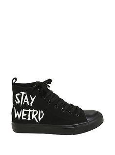 Stay Weird Hi-Top SneakersStay Weird Hi-Top Sneakers,