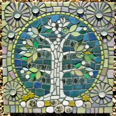 You might like Stained Glass Tree Mosaic Ideas 05 on my Website, Stained Glass Tree Mosaic . Unique Stained Glass Tree Mosaic Ideas You Will Love. Mosaic Tile Art, Mosaic Artwork, Mirror Mosaic, Mosaic Crafts, Mosaic Projects, Mosaic Glass, Glass Art, Stained Glass, Diy Artwork