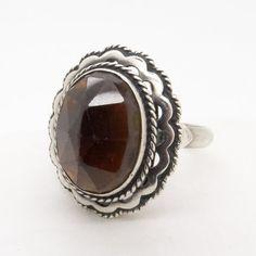 Antique Garnet Ring - 835 Silver Ring Size 8 - Bohemian Garnet 10 CTW - Dark Red Garnet Ring - Traditional Dutch Klederdracht Jewelry at VintageArtAndCraft