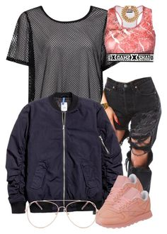 """""""12 6 16"""" by miizz-starburst ❤ liked on Polyvore featuring Boohoo, Forever 21 and Reebok"""