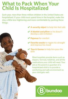 If you ever find yourself in this situation, follow these tips to make your child as comfortable as possible.