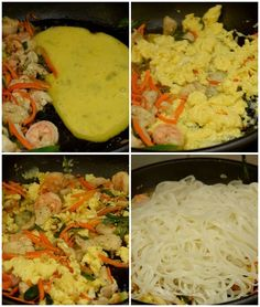 Try this best,spicy,simple and easy authentic pad thai recipe,with vegetables,shrimp,eggs and chicken,with easy authentic pad thai sauce.This recipe of homemade thai food is the best and better than any restaurant or takeout menu.The best pad thai noodles you can try at home. #savorybitesrecipes #padthairecipe #thaifood #padthainoodles #shrimp #chicken #ricenoodles #padthaisauce #dinnerrecipes #easyrecipes Tai Food Recipes, Easy Thai Recipes, Vegetable Recipes, Asian Recipes, Cooking Recipes, Thai Drunken Noodles, Pad Thai Noodles, Rice Noodles, Shrimp And Eggs