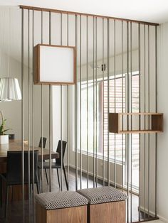Enhance your Foyer 	You're greeted by this steel rod screen as soon as you walk in the door of this midcentury modern house. Softer than a s...