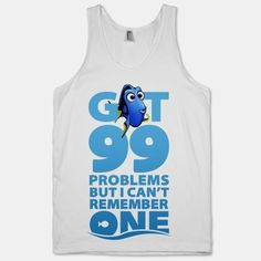 Poor forgetful fishy! Get a laugh out of friends with this hilarious 99 Problems but I Can't Remember One tank! - mens royal blue button down shirt, cream button down shirt, fitted long sleeve shirts mens *sponsored https://www.pinterest.com/shirts_shirt/ https://www.pinterest.com/explore/shirt/ https://www.pinterest.com/shirts_shirt/sleeveless-shirts/ http://www.ebay.com/sch/Mens-T-Shirts/15687/bn_704987/i.html
