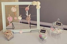 DIY Baby Headband Station for a baby shower. This is such a fun idea, and just another way to celebrate her little girl. Everyone makes a headband for the baby with supplies we provide (and glue guns)
