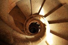 "Spiral Staircase Descending - Gaudi - Sagrada Familia Cathedral, Barcelona, Spain - Framed Photo Art Print, 11""x 14"" by Romagosa Fine Arts, http://www.amazon.com/dp/B00GOGHE1C/ref=cm_sw_r_pi_dp_DZyHsb0CTR1DJ"