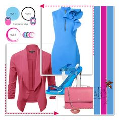 """""""Blue/pink"""" by s-o-polyvore ❤ liked on Polyvore featuring Dsquared2, René Caovilla, Tory Burch and Lime Crime"""