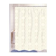 Park Avenue Deluxe Collection Park Avenue Deluxe Collection inch Jacquard Circles inch Fabric Shower Curtain in Ivory