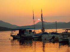 Corfu - harbour of Boukari (south), fantastic sunset!