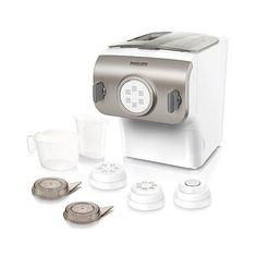 Philips Pasta Maker with Shaping Disks, Recipe Book and Meal Easy Offer